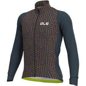 Alé Cycling PRR Green Bolt Maglia a Maniche Lunghe Uomo, nero/arancione